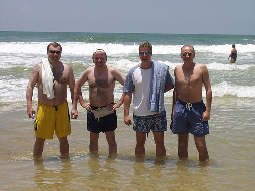 Having spent too long in the water, survivors emerge bloated and wrinkly