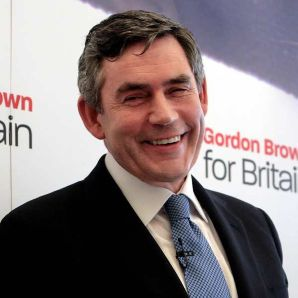 Never a frown with Gordon Brown