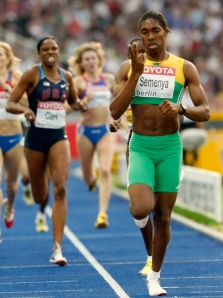 Semenya indicates how many testicles she has
