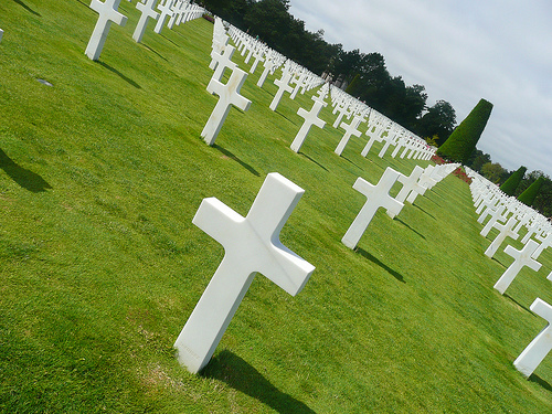 The Cemetery at Omaha Beach. Twinned with Broad Street, Birmingham