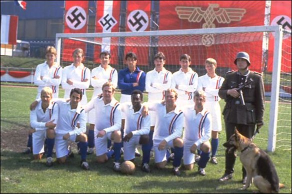 "The Waffen Sunderland Xi's first team photo since Paulo Di Canio (v far right) joined the squad. ""Ve vos only obeying tactics"""