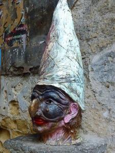 "Naples: Bust of ""Gaveen"" —patron Saint of Big Noses."