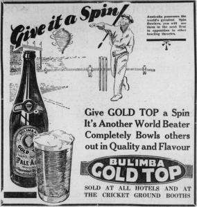StateLibQld_1_91556_Advertisment_for_Bulimba_Gold_Top_beer,_Queensland