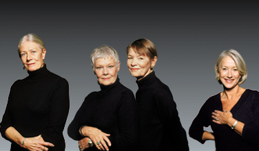 Redgrave, Dench, Jackson & Mirren. Photo:Terry ONeill